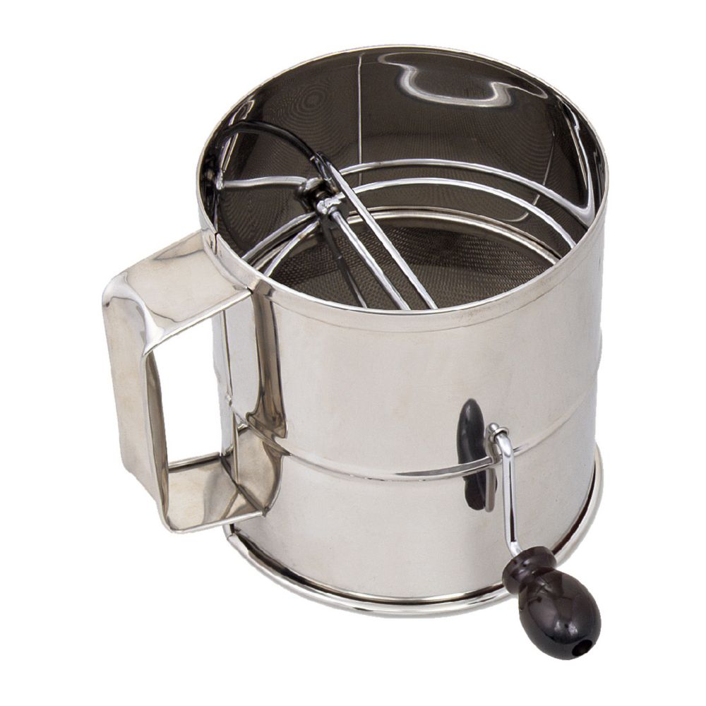 Browne Foodservice 1260 8-Cup Stainless Steel Rotary Flour Sifter by Browne Foodservice