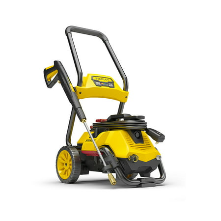 Stanley SLP 2,050 PSI 2-In-1 Electric Pressure Washer For Cart or Portable Use with Spray Gun, Wand, 25 Foot High Pressure Hose, 35 Foot Power Cord, Detergent Tank, and 4 Nozzles