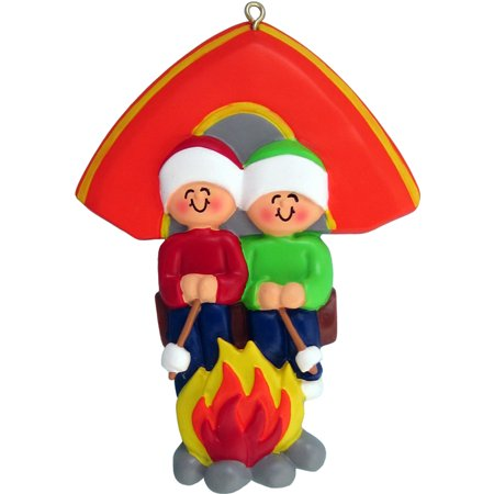 Family Camping 2 People Personalized Christmas Ornament DO-IT-YOURSELF](Camping Ornaments)