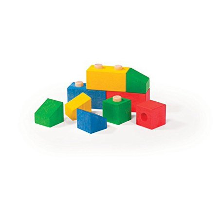 - Varis Stacking Blocks 12 Piece High Quality Wooden Construction Toy Set For Ages 1+ (Made in Europe)
