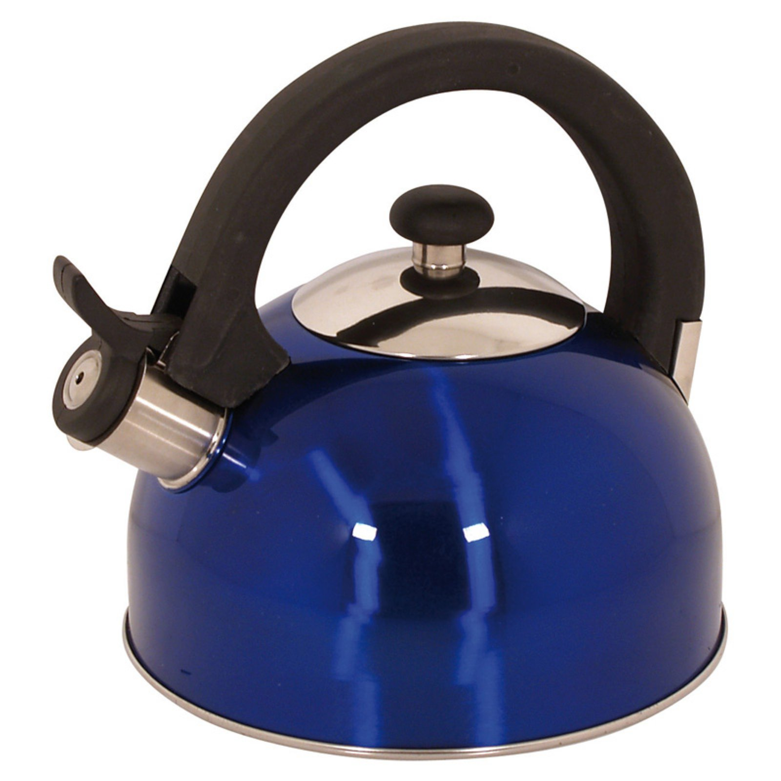 Sabal 2 Qts. Stainless Steel Stovetop Tea Kettle with Whistle in Blue