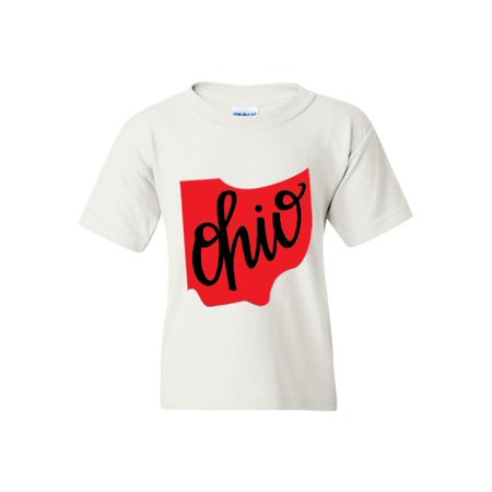 Ohio State Flag Unisex Youth Shirts T-Shirt Tee