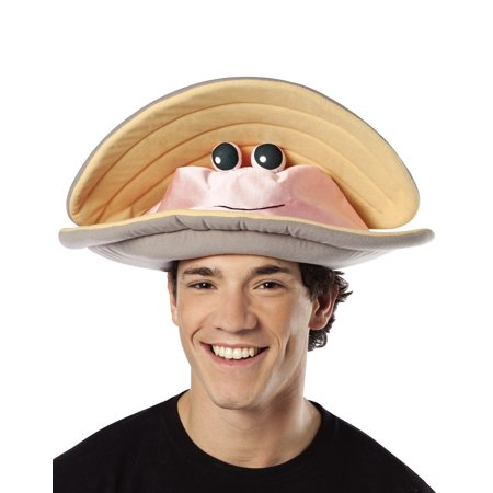 Clam Hat Adult Halloween Costume Accessory (Hot Haloween Costumes)
