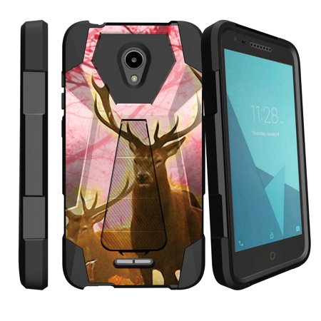 new style a269a 93e62 Slim Duty Case for Alcatel Raven LTE | Alcatel IdealXcite High-Impact Shell  Case with Silicone Bumper & Kickstand, Case for IdealXcite [Sturdy Case ...