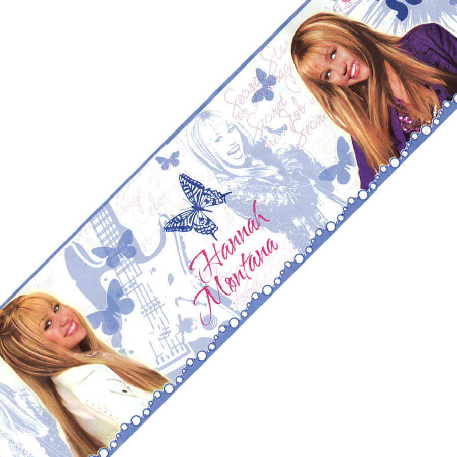 Blue Mountain Wallcoverings Hannah Montana Self Stick Wall Border in Purple
