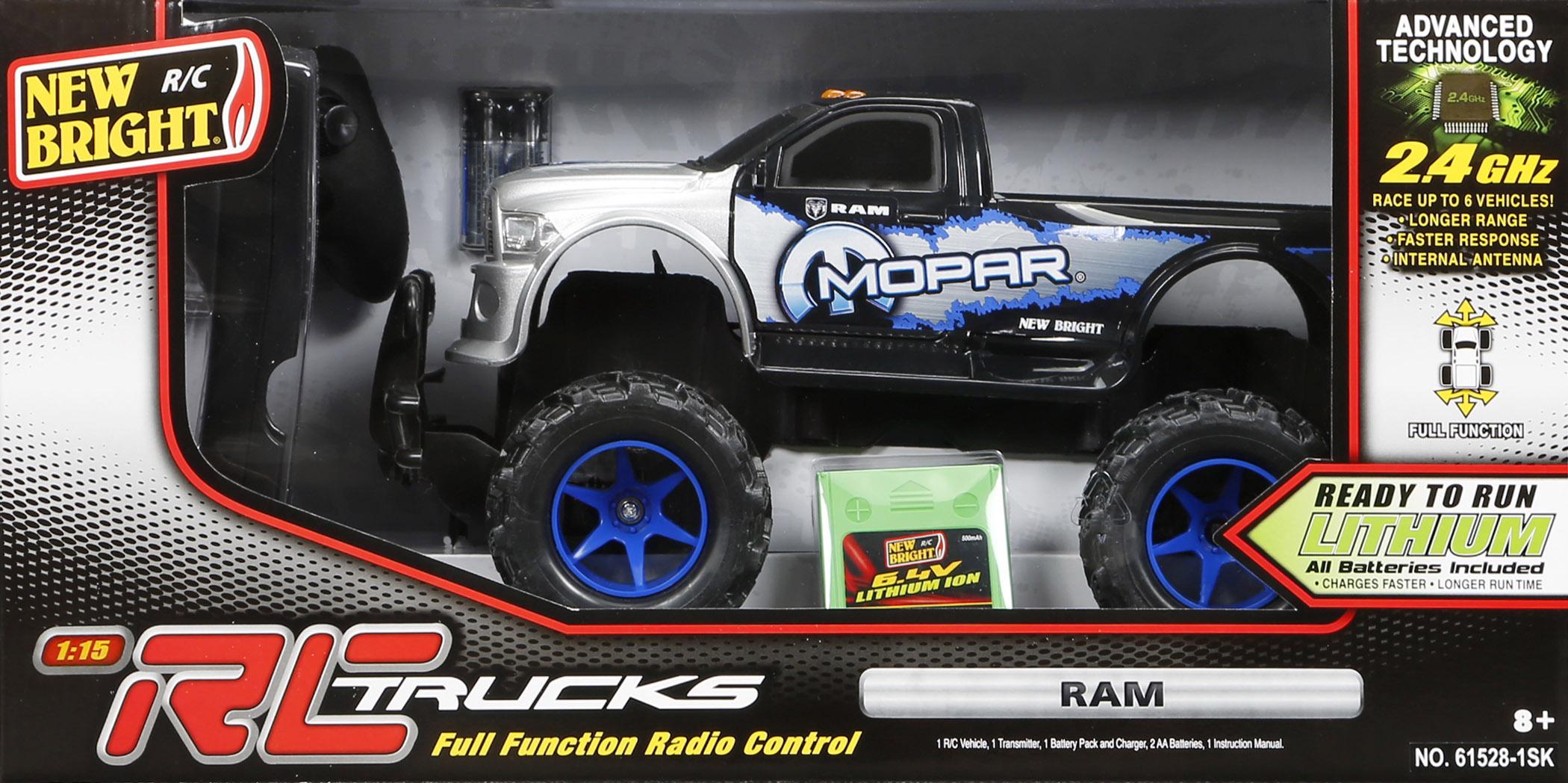 RC Car Crawler Big Wheels Remote Control 1:8 Scale 6 4v