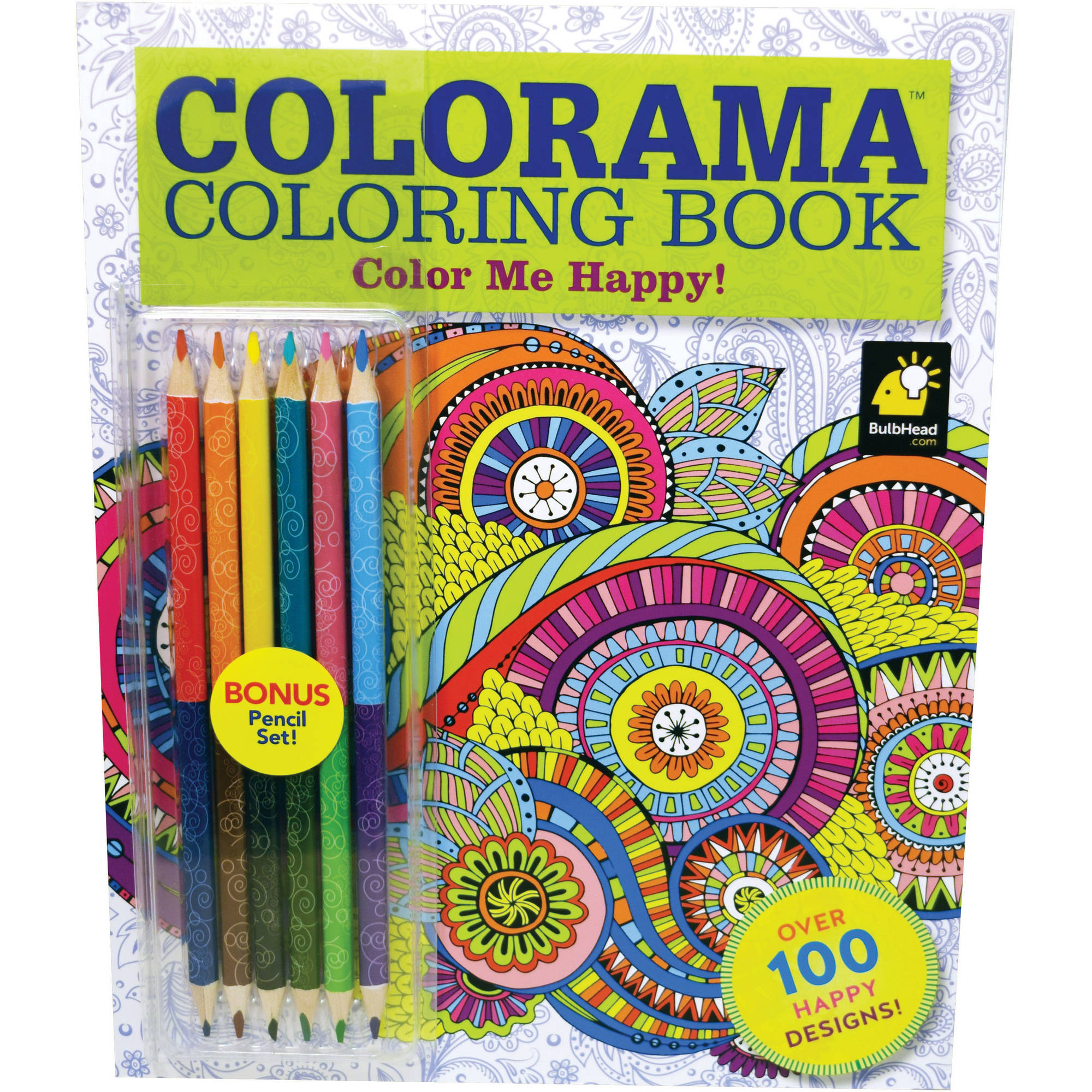 As Seen On Tv Colorama Color Me Happy Coloring Book With Over 100 Designs