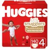 Huggies Little Snugglers Baby Diapers, Size 4, 140 Ct