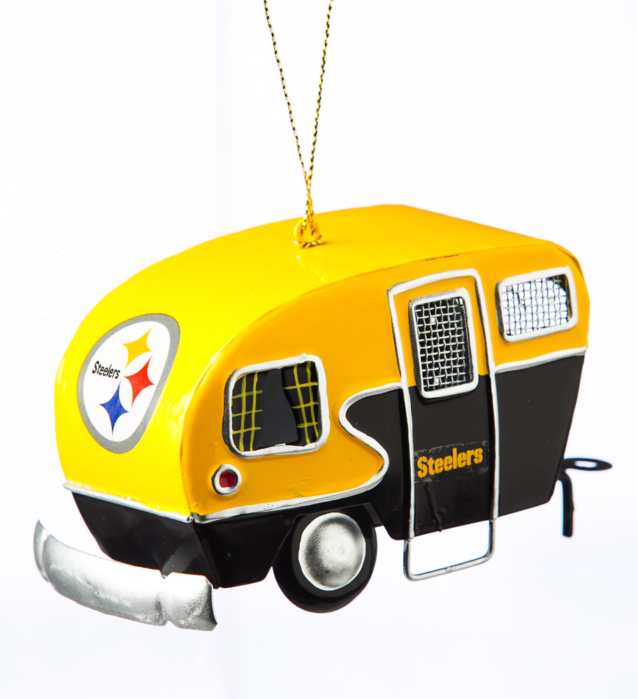 Pittsburgh Steelers Metal Camper Ornament