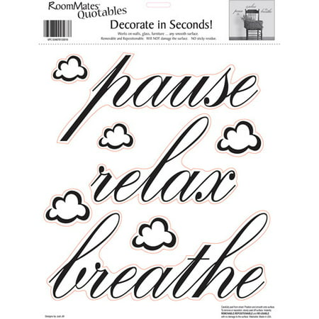 RoomMates Pause Relax Breathe Peel And Stick Wall Decals Single - Wall decals relax