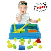 Tuscom 22Pcs/Set Beach Toys Sand Mould Shovel Sandbox For Kids