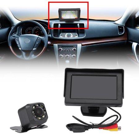 HERCHR Backup Camera Monitor, Wireless Car Rear View Reversing Backup Camera 4.3 Inch TFT LCD Monitor Kit Night Vision, Wireless Reversing