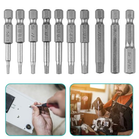 EEEkit 10pc Torx Screwdriver Bits, 1/4 Inch Hex Shank Electric Magnetic Star Torx Security Head Screw driver Drill Bits Set,50mm Length