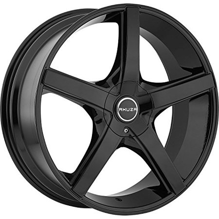 Akuza 848 Axis 18x8.0 Gloss Black Wheel 5x108mm 5x114.3mm (5x4.50) Bolt Pattern / +45mm Offset / 74.1mm Hub (Aeris Boot)