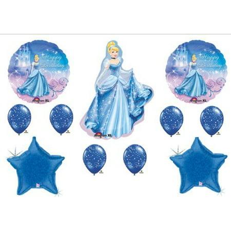 CINDERELLA Disney Princess BIRTHDAY PARTY Balloons Decorations Supplies by - Cinderella Birthday Supplies