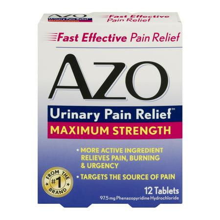 AZO Force maximale standard urinaire Soulagement de la douleur, 12ct