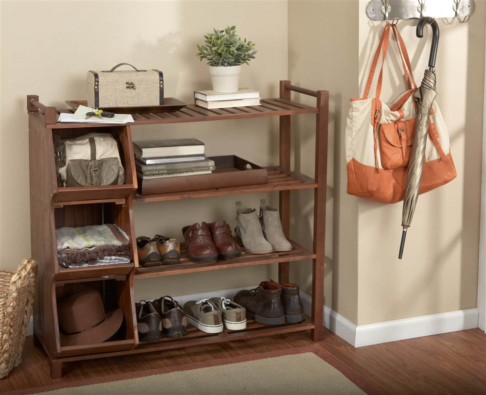4 Tier Outdoor Shoe Rack And Cubby Image 3 Of 4