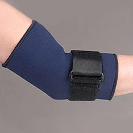 Safe T Sport Neo Tennis Elbow Sleeve Medium Navy  Sports Neoprene Sleeve Coverage Provides Therapeutic Warmth Around The Entire Elbow Joint  By Fla Orthopedics From Usa