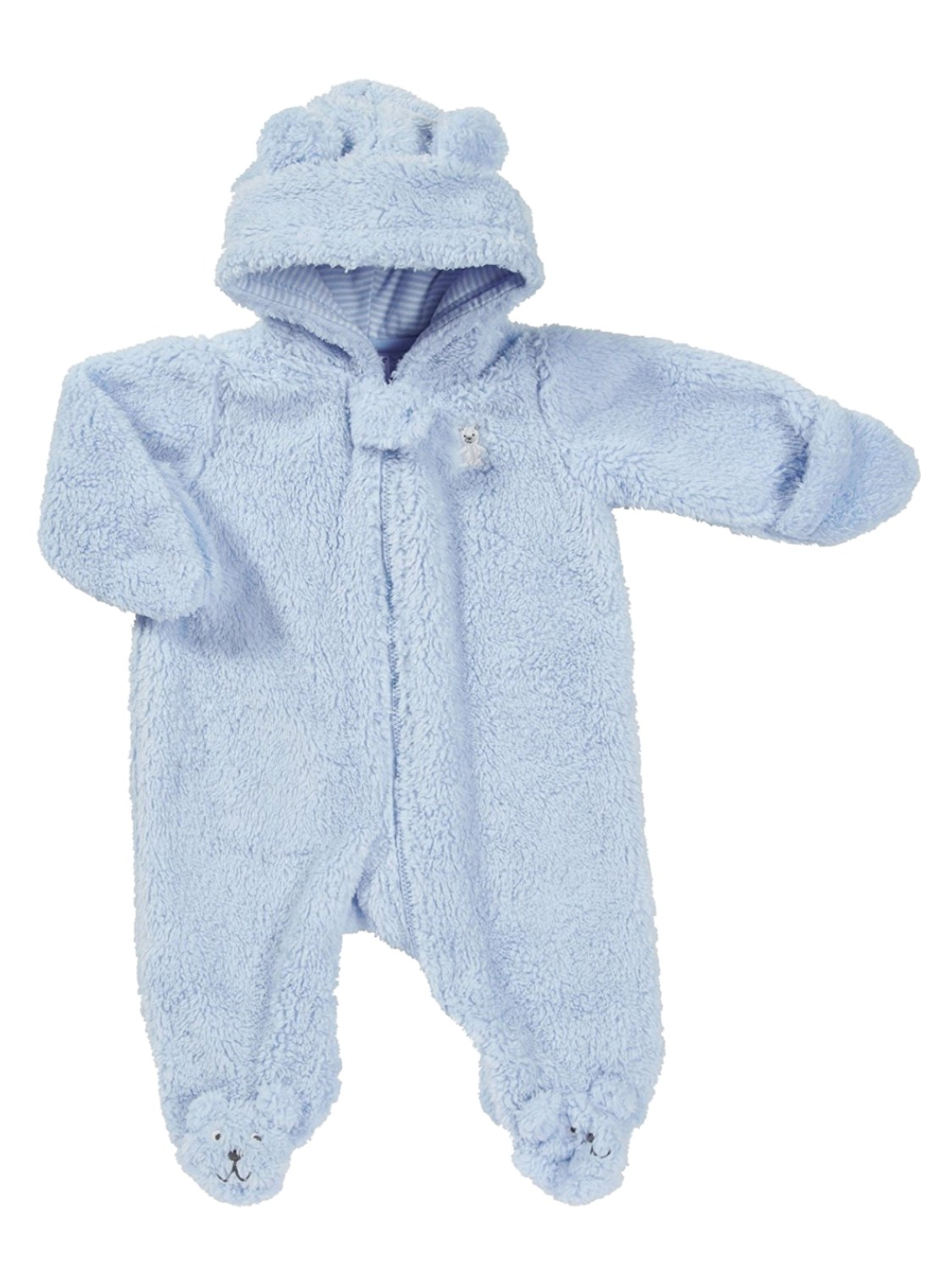 Carters Infant Boys Bear Cub Sherpa Pram Baby Bunting Snowsuit