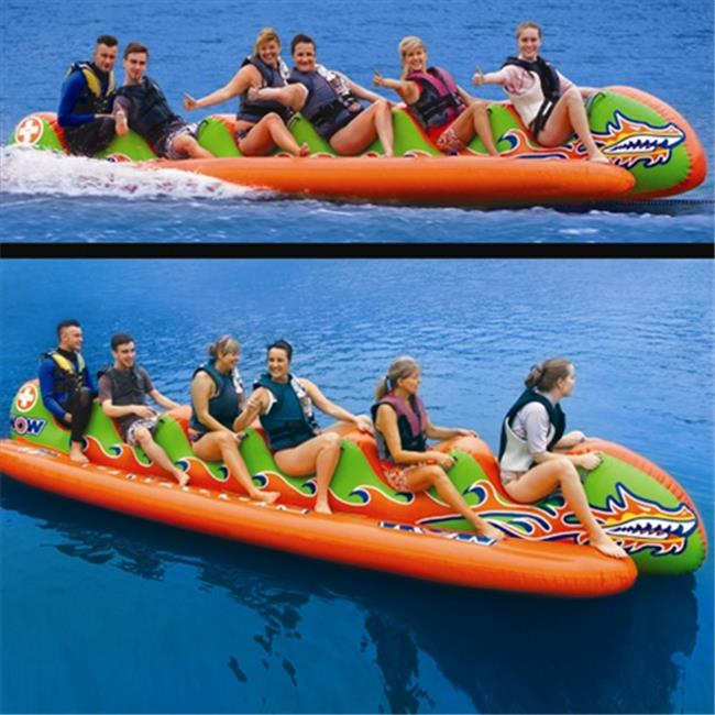 Wow Sports 13-8000 Dragon Boat - 6 Person Watersled Inflatable And Towable  - Walmart.com - Walmart.com