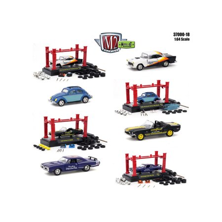 Model Kit 4 pieces Set Release 18 1/64 Diecast Model Cars by M2 Machines