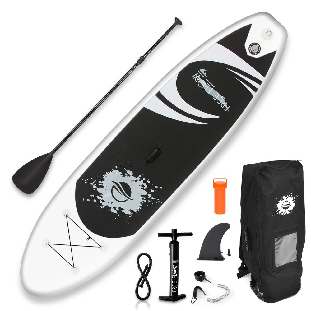 SereneLife SLSUPB08 - Free Flow Paddleboard SUP - Stand Up Water Paddle-Board (11' ft.)