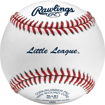 Rawlings Raised Seam Baseballs, Little League Competition Grade Baseballs, Box of 12, RLLB1