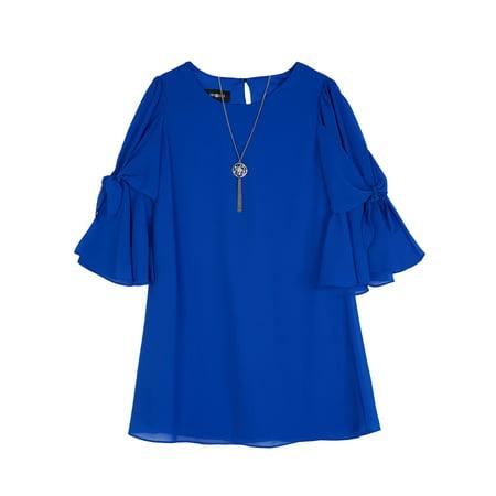 Amy Byer Ruffle Bowtie Sleeve Dress (Big Girls)