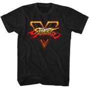 Street Fighter Men's  SFV Logo Slim Fit T-shirt Black