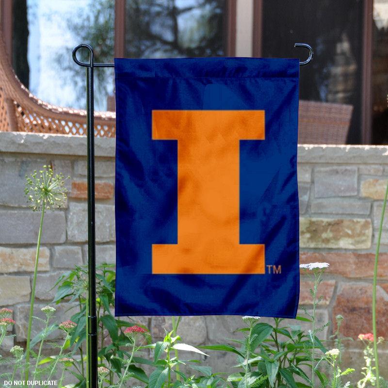 "Illinois Fighting Illini Blue 13"" x 18"" College Garden Flag"