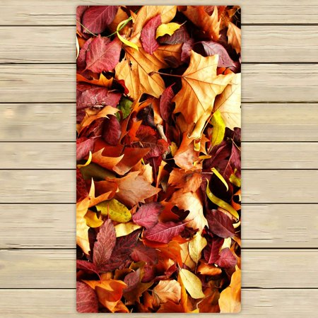 ZKGK Fallen Leaves in Autumn Hand Towel Bath Towels Beach Towel For Home Outdoor Travel Use Size 30x56 Inches - Falling Leaves Bath Towel