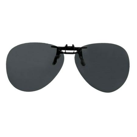 0e9f831e62 Outdoor Black Lens Driving Clip On Flip Polarized Sunglasses Eye Wear -  image 1 of 1 ...