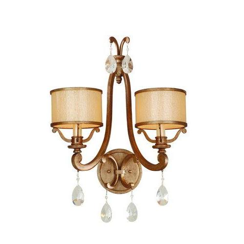 Corbett Lighting 71-12 2 Light Wall Sconce from the Roma Collection, Antique Roman Silver