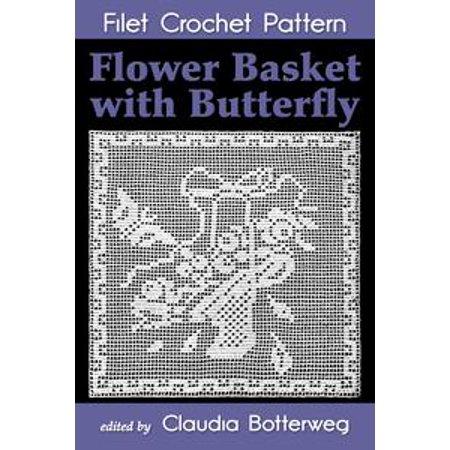 - Flower Basket with Butterfly Filet Crochet Pattern - eBook