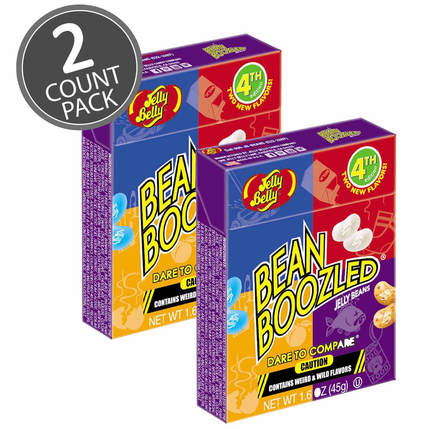 Jelly Belly BeanBoozled Jelly Beans 1.6 oz Box (4th edition) (2 Pack) by