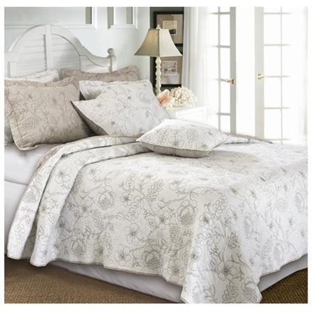 Global Trends Peony Taupe Reversible Quilt Set