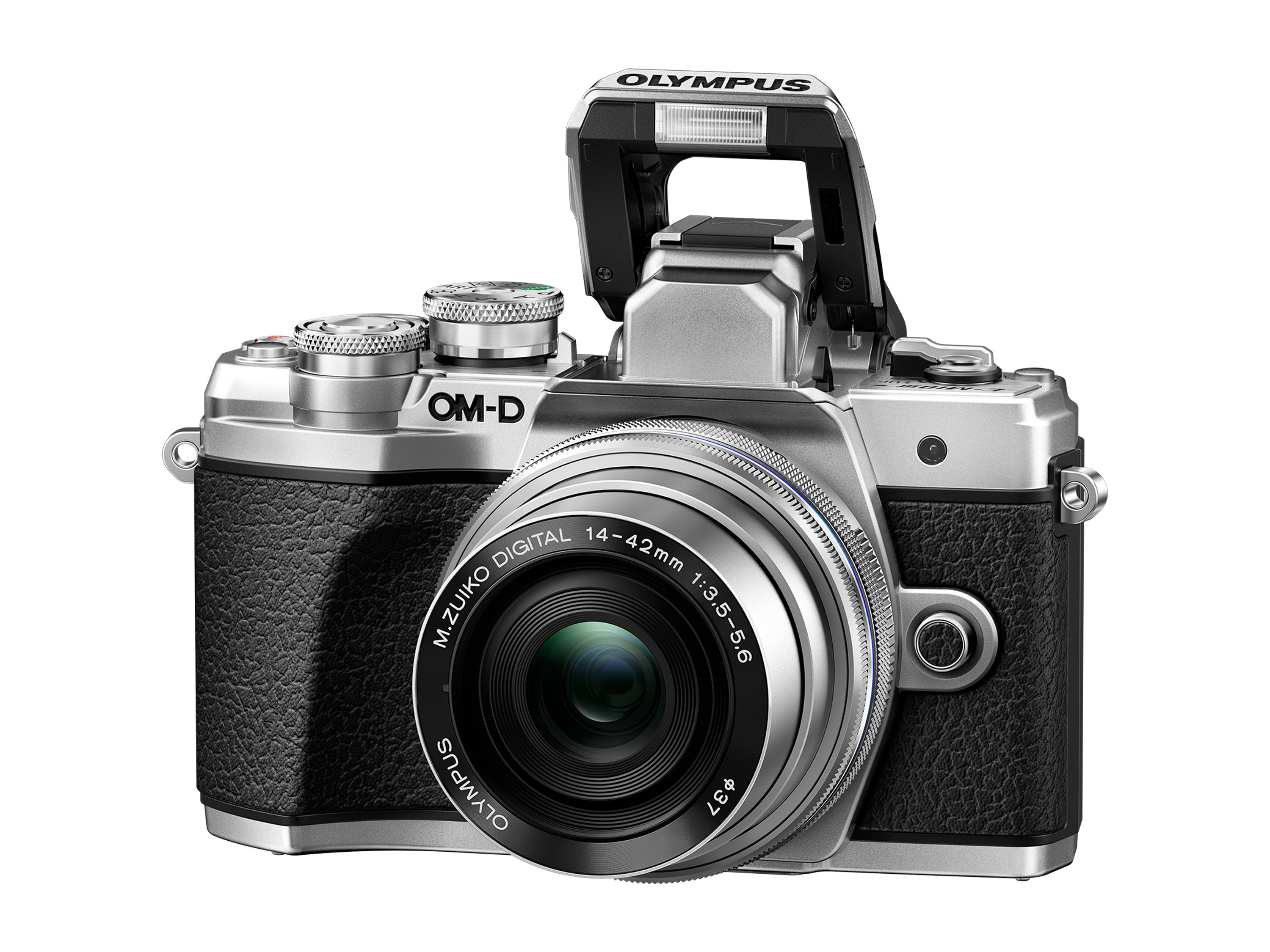 Olympus OM-D E-M10 Mark III 16.1Megapixel Mirrorless Camera with Lens 14mm 42mm Silver by Olympus