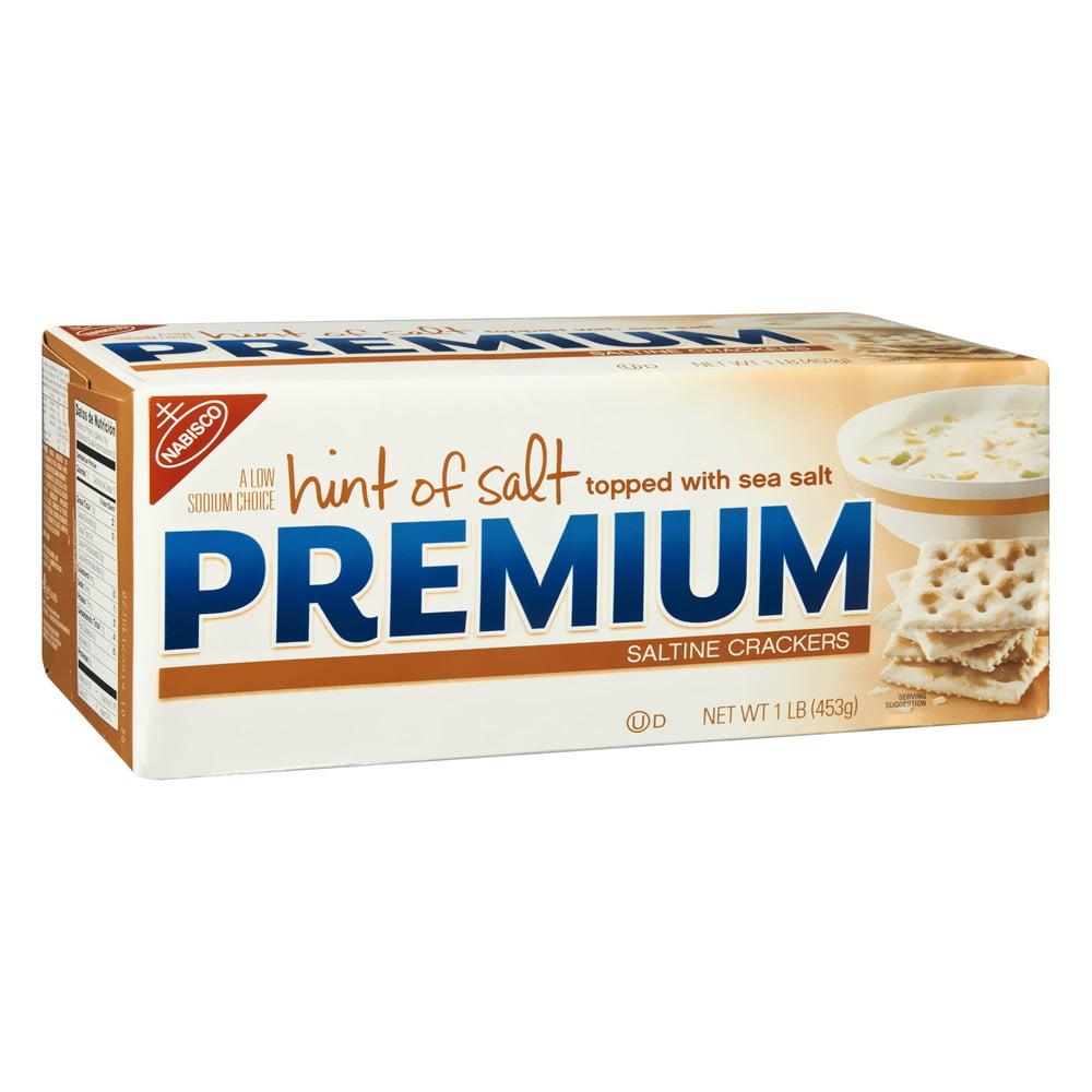 Nabisco Premium Hint of Salt Saltine Crackers, 16.0 OZ