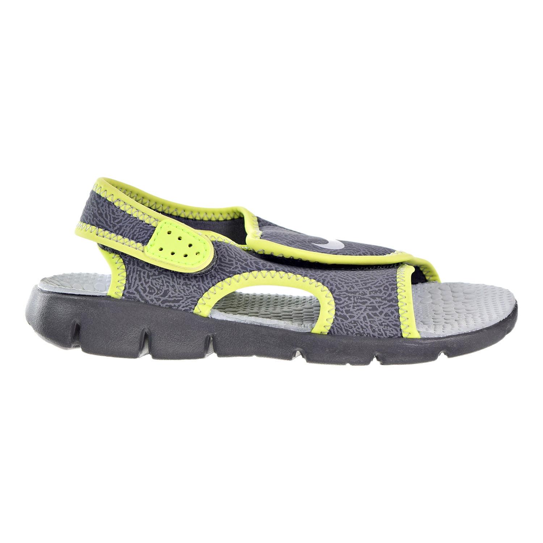 Nike Sunray Adjust 4 Big Kids/Little Kids Shoes Dark Grey/Wolf Grey/Volt 386518-013 (6 M US)