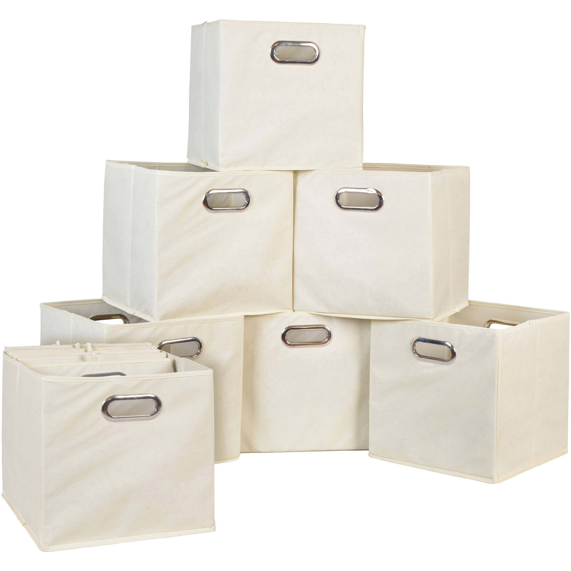 Attirant Niche Cubo Foldable Fabric Storage Bin, Set Of 12