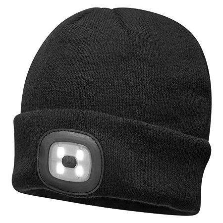 0105db88fa793 Knitted Beanie With Rechargeable LED Flashlight Beanie Winter Hat Headlamp  - Walmart.com