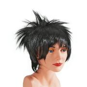 Star Power Adult Short Punk Rockstar Spiked Wig, Black, One Size