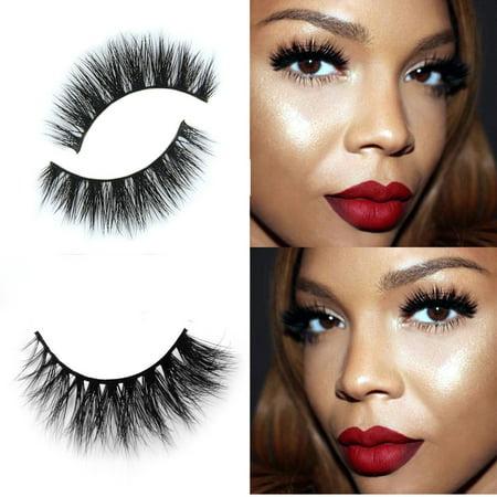 Mosunx 3D Mink Makeup Cross False Eyelashes Eye Lashes Extension