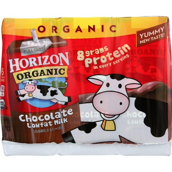 Horizon Organic Dairy Milk - Organic - 1 Percent - Lowfat - Box - Chocolate - 6/8 Oz - Pack of 3