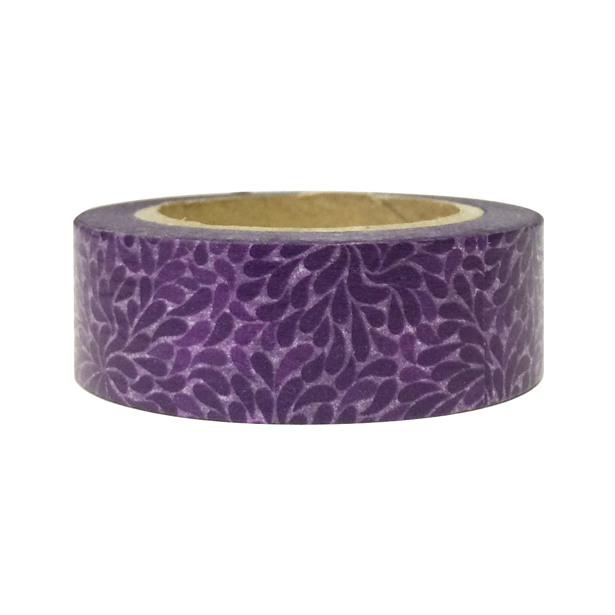 Wrapables® Colorful Patterns Washi Masking Tape, Purple Bloom