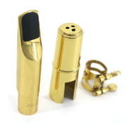 Muslady 6C Tenor Saxophone Mouthpiece Musical Instrument Accessories Brass Material with Reed Cap Buckle Patch