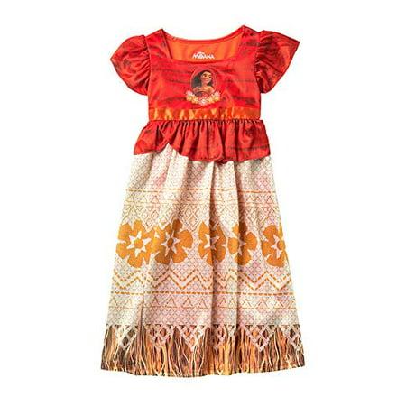 Disney Onesies For Teenagers (Disney Moana Ocean Princess Big Girls Fantasy Nightgown, Size 8)