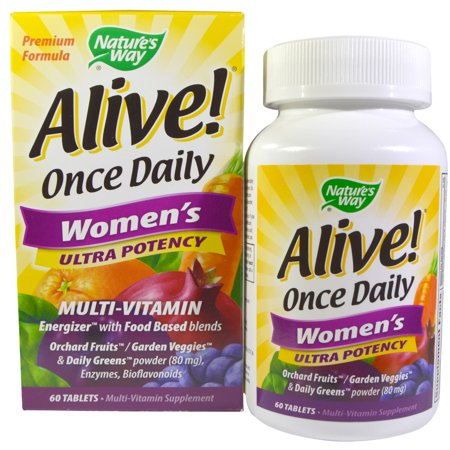 - Nature's Way, Alive! Once Daily Women's Ultra Potency Multi-Vitamin, 60 Tablets(pack of 2)