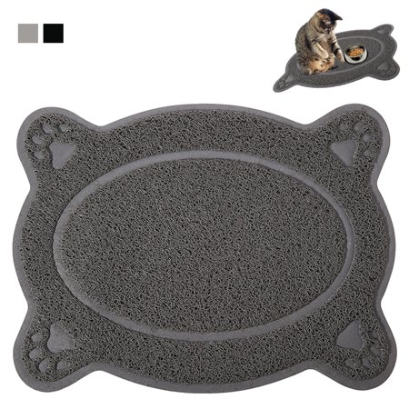 Waterproof Bowl Mat Cat Dog Pets Paw Print Food Placemat Dish Feeding Wipe Clean