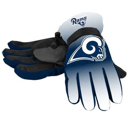 Forever Collectibles - NFL Gradient Big Logo Insulated Gloves Small/Medium, Los Angeles Rams